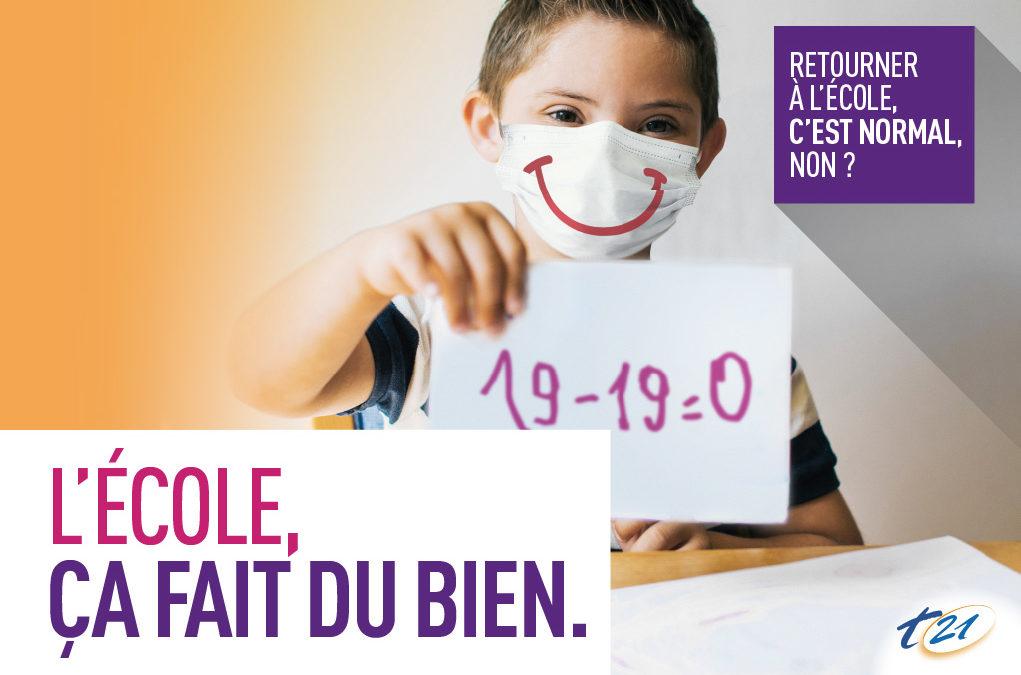 L'école, ça fait du bien ! : lancement de notre campagne pour soutenir le retour à l'école des enfants avec handicap