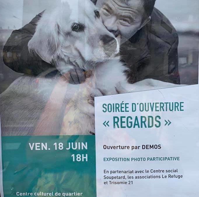 Exposition projet inclusif : «Corps et Décor «– slams et photos- au Centre Culturel de Soupetard à Toulouse (quartier de notre local, T21HG)